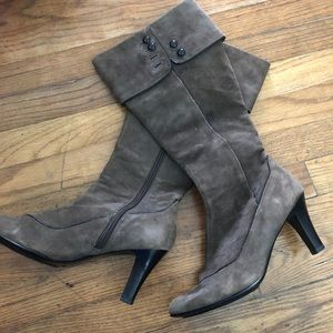 Sofft Suede Leather Knee High Boots Size 8.5